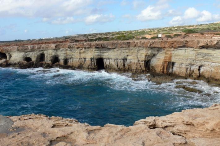 Ciprus - Cape Greco barlangjai