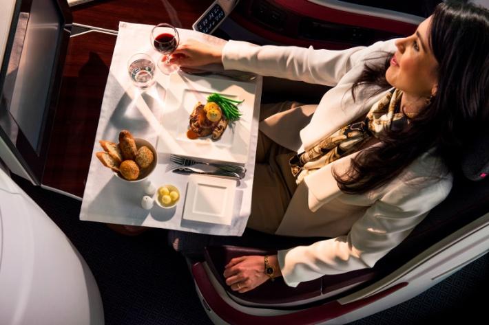 Michelin-csillagos ételek a Qatar Airways fedélzetén