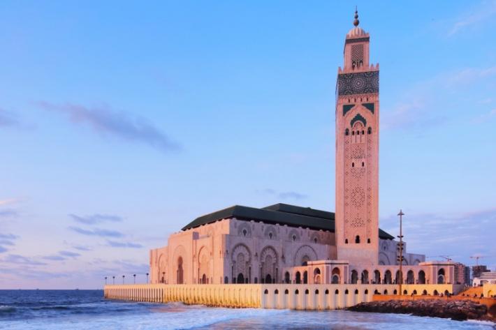találkozó helyén a marokkói