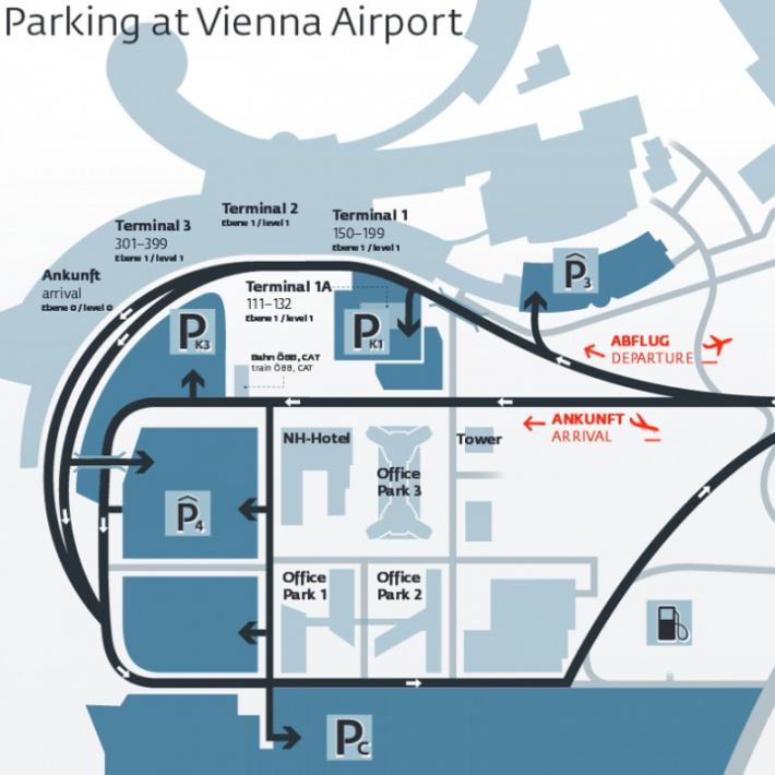Repülőtéri parkoló - Bécs - Vienna Airport